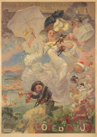 Adolphe leon willette cote dazur 1