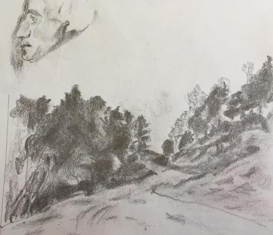 Bertrand dufour dessin au fusain