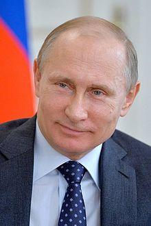 Putin with flag of russia